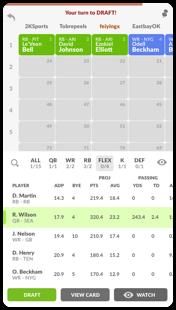 Mobile Draftboard Screenshot 1